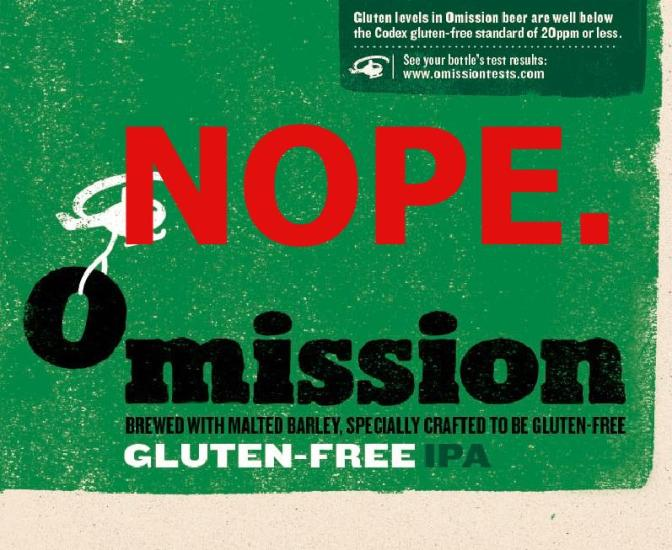Omission is the Bane of My Gluten Free Beer Drinking Existence