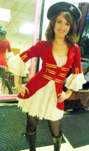 Cypress as a Cigarette Girl Pirate. This is a photo from my first night, when I wore one of the costumes from the staff closet.